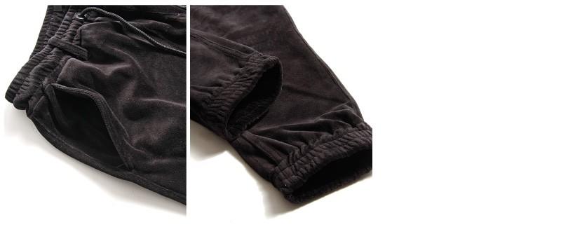 絲絨束口褲