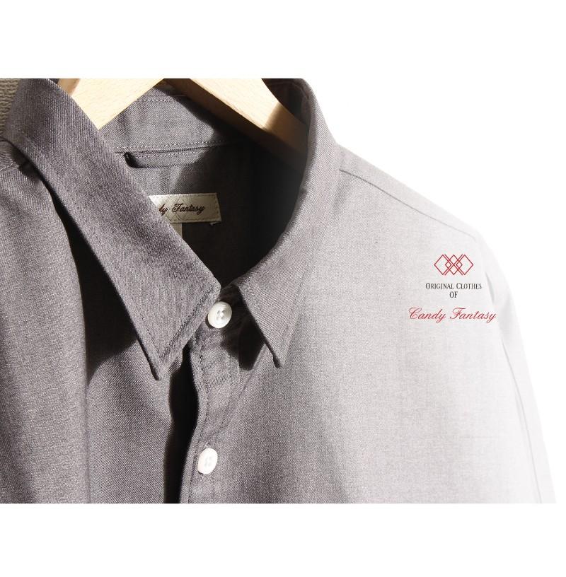 素面長袖嫘縈襯衫