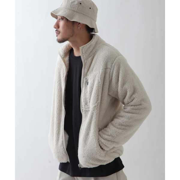 ブルゾン メンズ ボア フリース ジャケット アウター ボアジャケット スタンドネック ふわふわ もこもこ ジャンパー ファッション (181909bz) D 2bh|zip|16