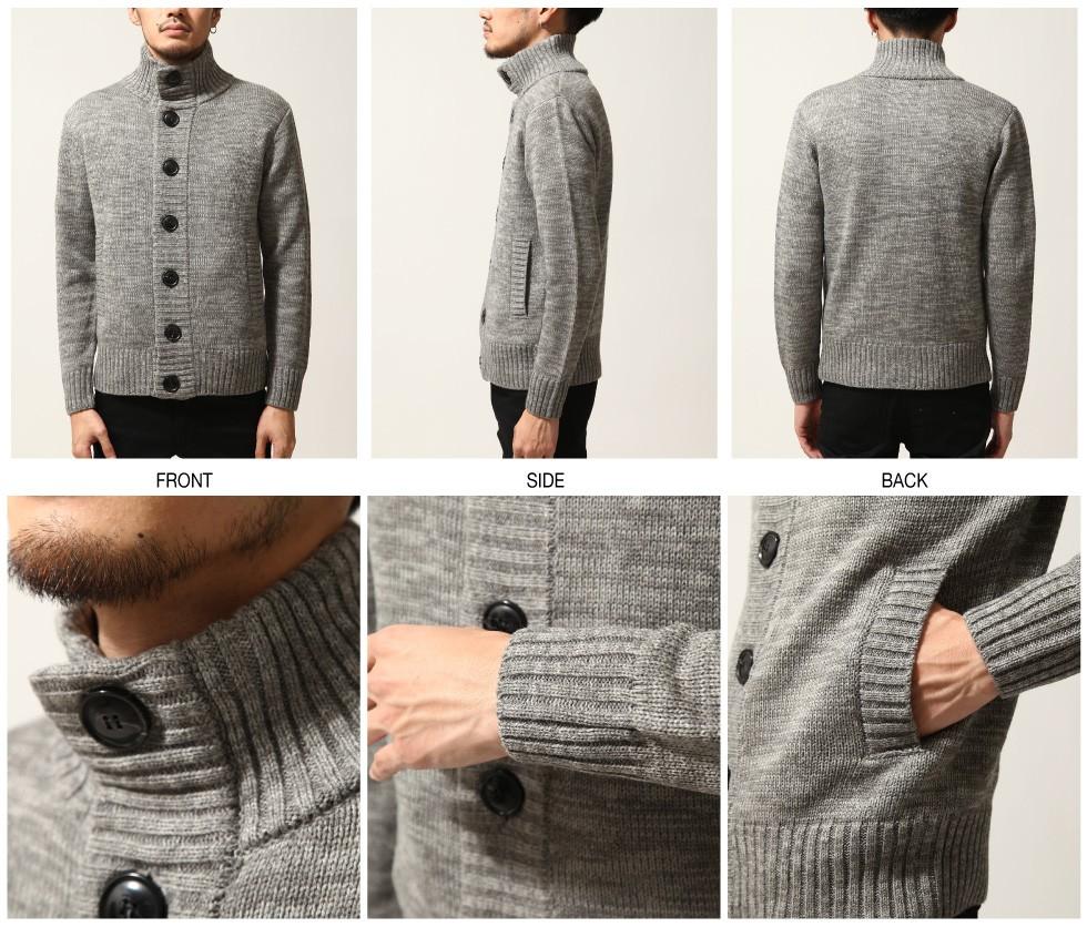 高領設計開襟外套