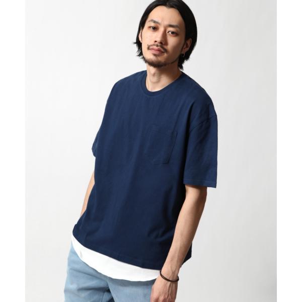 アンサンブル メンズ Tシャツ カットソー タンクトップ ロングタンクトップ レイヤード 無地 ファッション ポイント消化 (19002-11nz)|zip|17