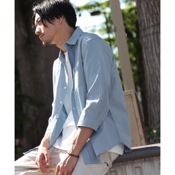 シャツ メンズ カジュアルシャツ リネンシャツ 麻 半袖シャツ 七分袖シャツ 白シャツ 綿麻 清涼 クール ファッション ポイント消化 (19006-12yz)|zip|22