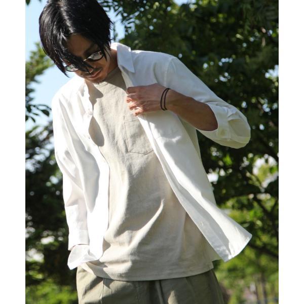 シャツ メンズ カジュアルシャツ リネンシャツ 麻 半袖シャツ 七分袖シャツ 白シャツ 綿麻 清涼 クール ファッション ポイント消化 (19006-12yz)|zip|29