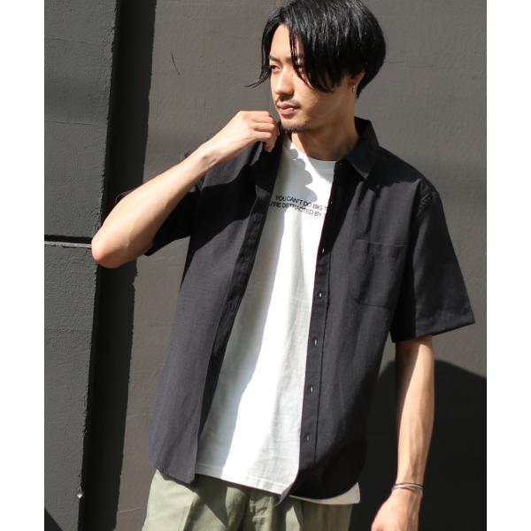シャツ メンズ カジュアルシャツ リネンシャツ 麻 半袖シャツ 七分袖シャツ 白シャツ 綿麻 清涼 クール ファッション ポイント消化 (19006-12yz)|zip|40