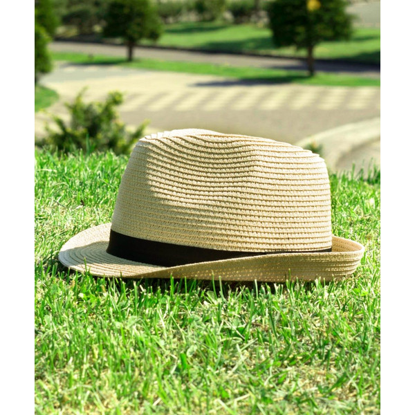 ハット メンズ ストローハット 帽子 折りたたみ可 中折れ帽 無地 家庭洗濯可 ファッション ポイント消化 (191129)|zip|11