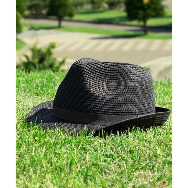 ハット メンズ ストローハット 帽子 折りたたみ可 中折れ帽 無地 家庭洗濯可 ファッション ポイント消化 (191129)|zip|14