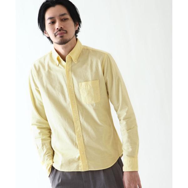 ボタンダウンシャツ メンズ カジュアルシャツ 日本製 オックスフォードシャツ シャツ 白シャツ ショート丈 綿 コットンシャツ 国産 (292003) D # zip 15