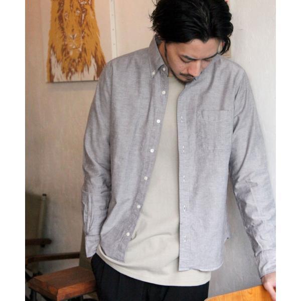 ボタンダウンシャツ メンズ カジュアルシャツ 日本製 オックスフォードシャツ シャツ 白シャツ ショート丈 綿 コットンシャツ 国産 (292003) D # zip 17