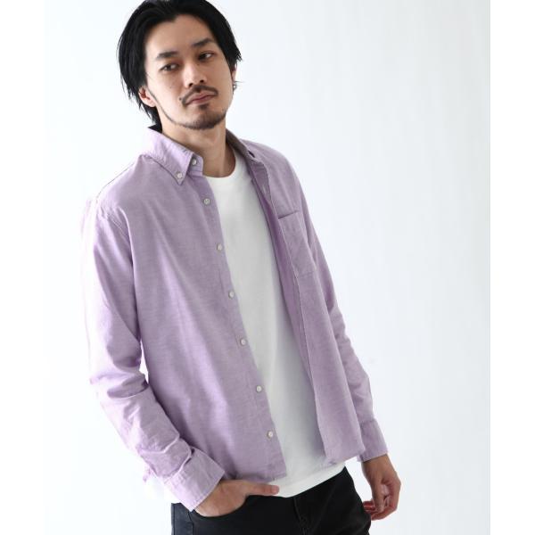 ボタンダウンシャツ メンズ カジュアルシャツ 日本製 オックスフォードシャツ シャツ 白シャツ ショート丈 綿 コットンシャツ 国産 (292003) D # zip 18