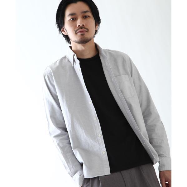 ボタンダウンシャツ メンズ カジュアルシャツ 日本製 オックスフォードシャツ シャツ 白シャツ ショート丈 綿 コットンシャツ 国産 (292003) D # zip 19