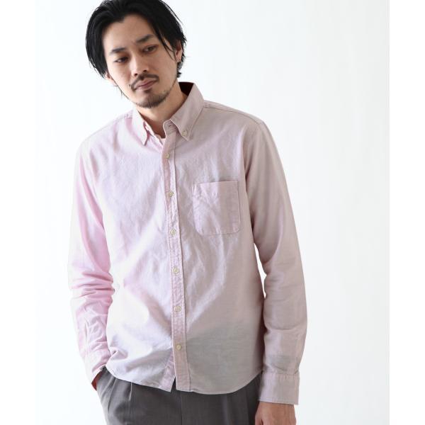 ボタンダウンシャツ メンズ カジュアルシャツ 日本製 オックスフォードシャツ シャツ 白シャツ ショート丈 綿 コットンシャツ 国産 (292003) D # zip 20