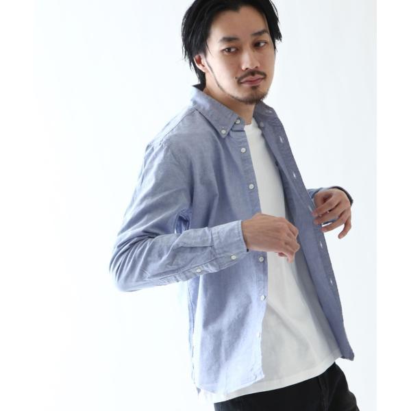 ボタンダウンシャツ メンズ カジュアルシャツ 日本製 オックスフォードシャツ シャツ 白シャツ ショート丈 綿 コットンシャツ 国産 (292003) D # zip 21
