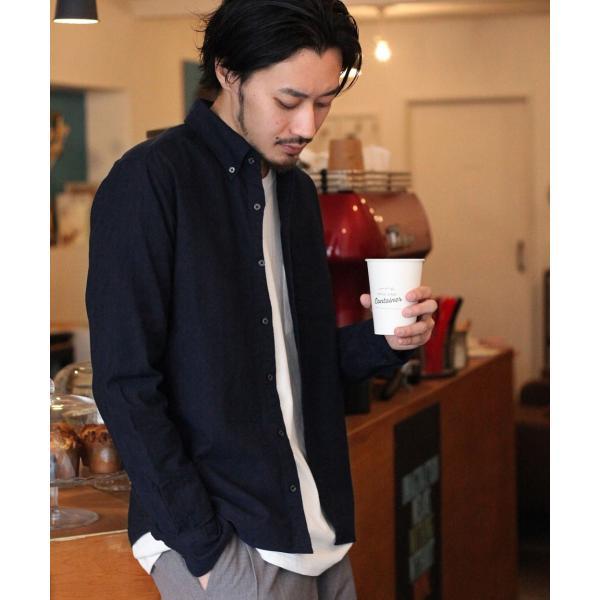 ボタンダウンシャツ メンズ カジュアルシャツ 日本製 オックスフォードシャツ シャツ 白シャツ ショート丈 綿 コットンシャツ 国産 (292003) D # zip 22