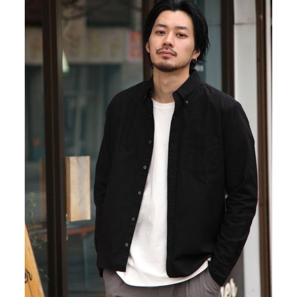 ボタンダウンシャツ メンズ カジュアルシャツ 日本製 オックスフォードシャツ シャツ 白シャツ ショート丈 綿 コットンシャツ 国産 (292003) D # zip 24