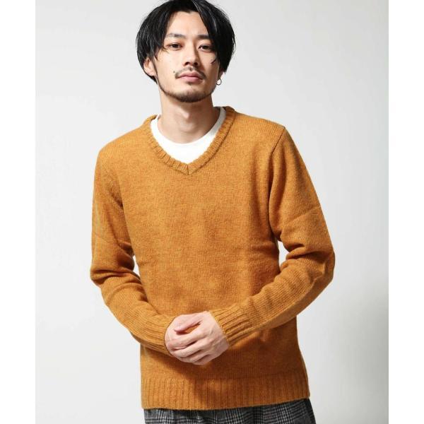 Vネックニット メンズ セーター ニット Vネック 長袖 ウール ニュージーランドウール  ファッション (56631-303-21) zip 15