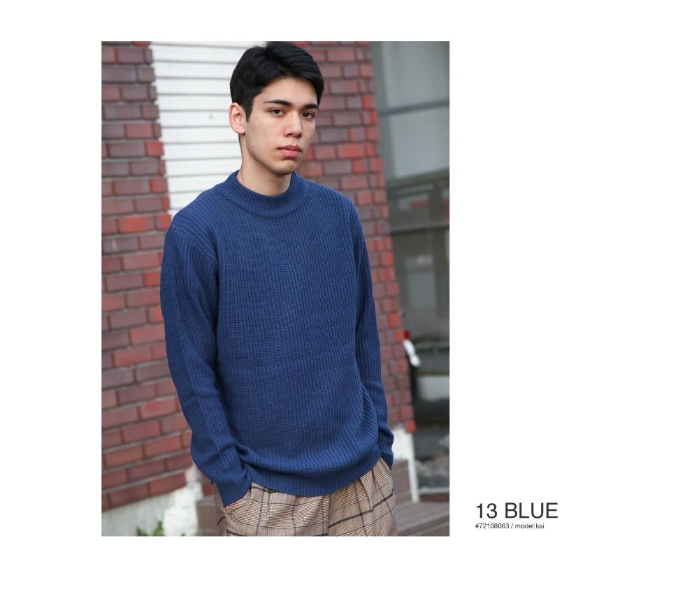 中高領素色毛衣