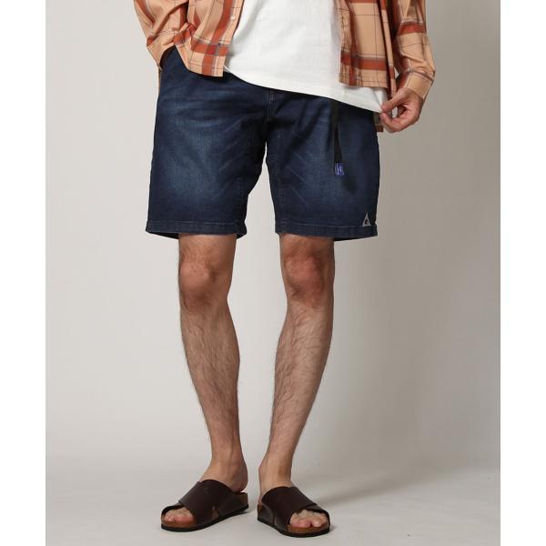 ショートパンツ メンズ ハーフパンツ クライミングパンツ デニム チノパン 短パン 無地 ワンポイント GERRY ジェリー ファッション (7558-7559)|zip|15