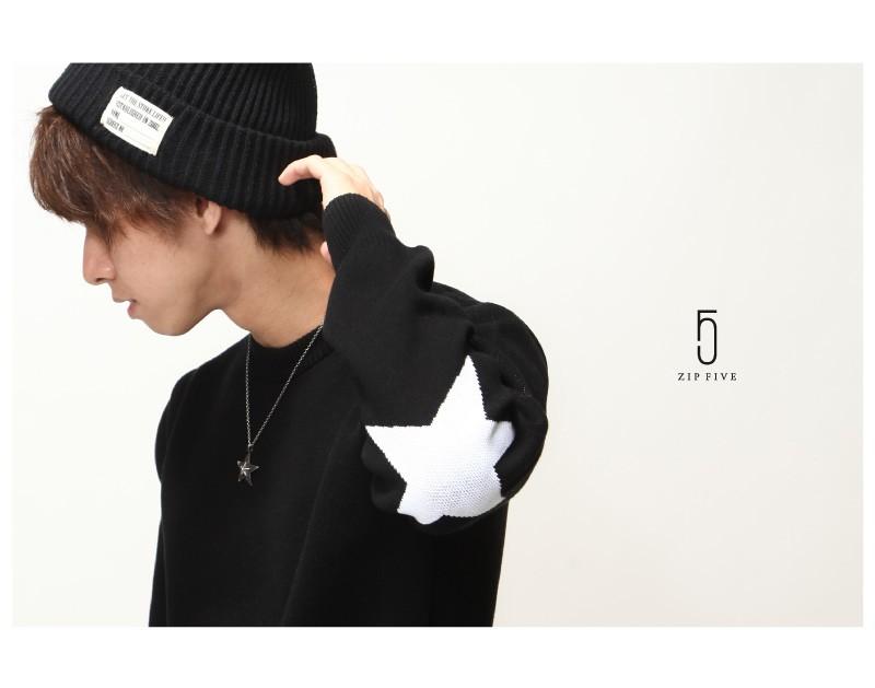 星星圖案針織衫