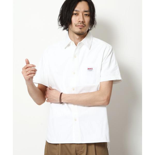 ワークシャツ メンズ シャツ カジュアルシャツ 半袖 無地 ストライプ 別注 ワンポイントBEN DAVIS ベンデイビス ファッション (9580048)|zip|18