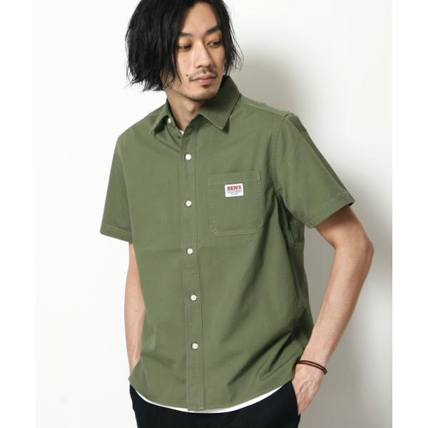 ワークシャツ メンズ シャツ カジュアルシャツ 半袖 無地 ストライプ 別注 ワンポイントBEN DAVIS ベンデイビス ファッション (9580048)|zip|19