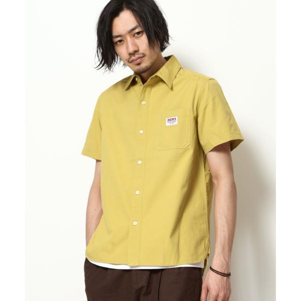 ワークシャツ メンズ シャツ カジュアルシャツ 半袖 無地 ストライプ 別注 ワンポイントBEN DAVIS ベンデイビス ファッション (9580048)|zip|20