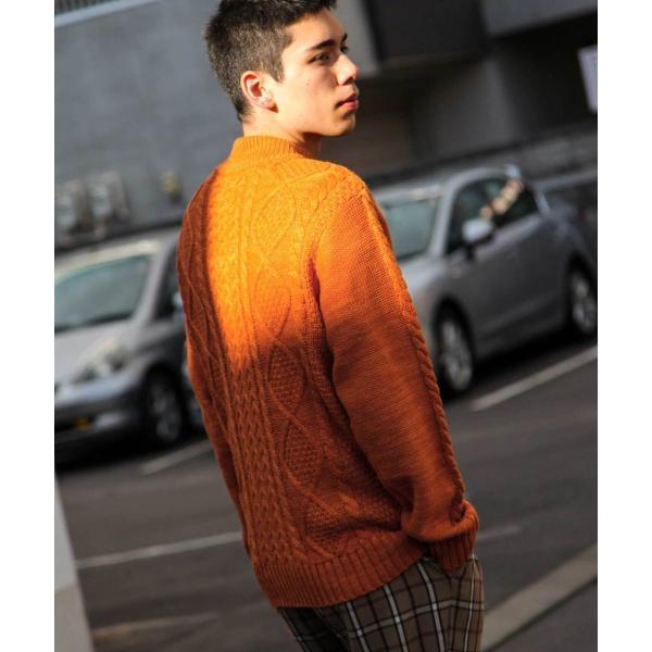 セーター メンズ ニット ケーブルニット モックネック ハイネック 長袖 無地 ユニセックス ファッション (blz-1902) 2bh|zip|31