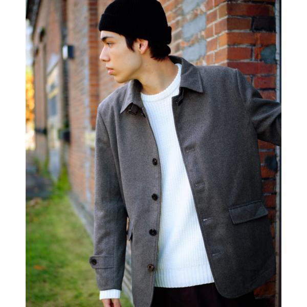 コート メンズ ピーコート ダッフルコート シングル メルトン Pコート ショート丈 ウールコート 学生 無地 グレンチェック ファッション (br1000) D|zip|24
