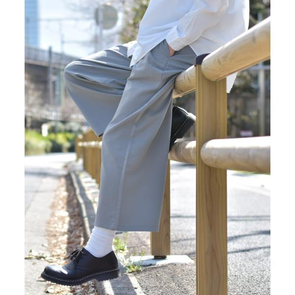 ガウチョパンツ メンズ ワイドパンツ ボトムス アンクル丈 ズボン サスペンダー ビッグシルエット スーツ地 ファッション ポイント消化 (br1006) zip 22