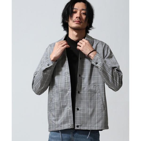 予約商品 コーチジャケット メンズ ジャケット ブルゾン アウター スーツ地 ストレッチ 無地 ストライプ チェック ファッション (br1007) zip 23