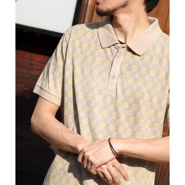 ポロシャツ メンズ ポロ 半袖 ゴルフウェア 半袖ポロ 無地 チェック ストライプ 切替 ボーダー ファッション ポイント消化 (br2011) zip 39