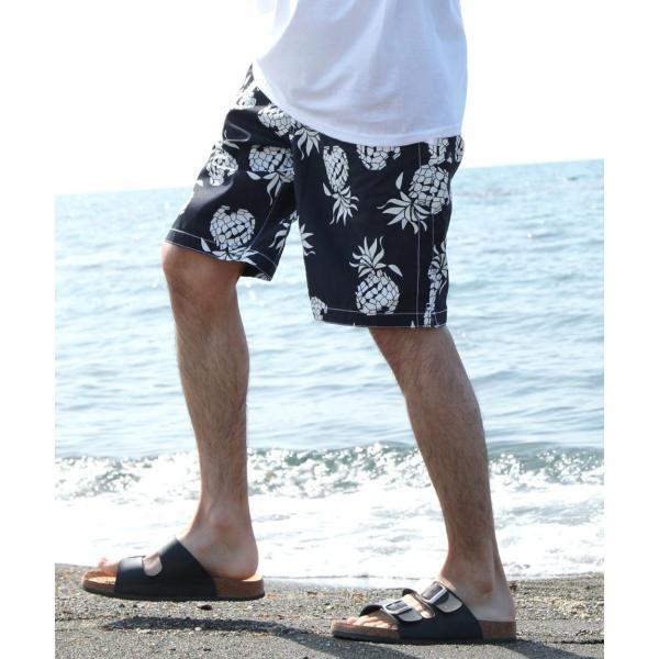 水着 メンズ サーフパンツ 海パン おしゃれ ショートパンツ ハーフパンツ スイムショーツ トランクス ボーダー 無地 花柄 アロハ ポイント消化 (br2015-221) D|zip|30