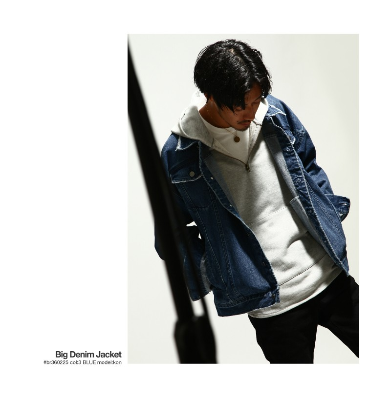 寬版版型丹寧夾克