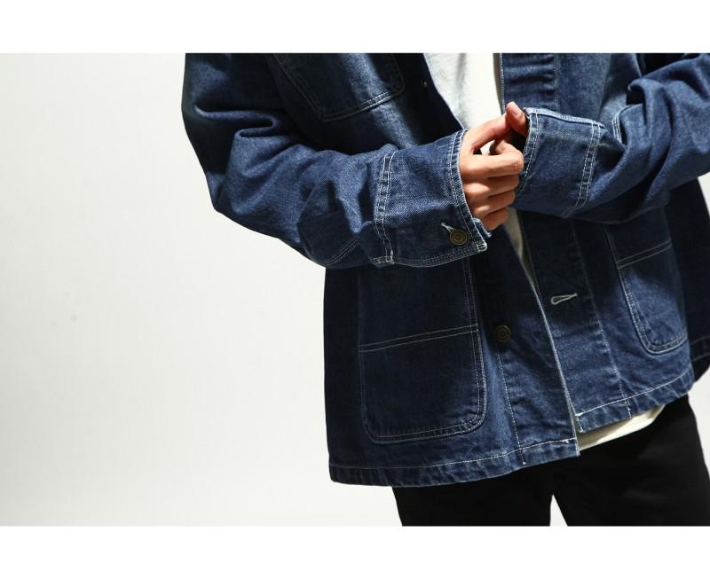 寬版丹寧夾克Coverall jacket
