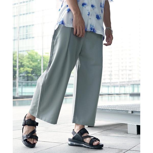 ワイドパンツ メンズ ボトムス ガウチョパンツ ズボン サスペンダー スラックス ビッグシルエット ゆったり ファッション 2019 新作 (br9011) D|zip|17