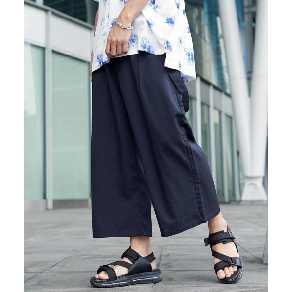 ワイドパンツ メンズ ボトムス ガウチョパンツ ズボン サスペンダー スラックス ビッグシルエット ゆったり ファッション 2019 新作 (br9011) D|zip|18