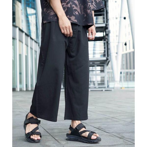 ワイドパンツ メンズ ボトムス ガウチョパンツ ズボン サスペンダー スラックス ビッグシルエット ゆったり ファッション 2019 新作 (br9011) D|zip|19