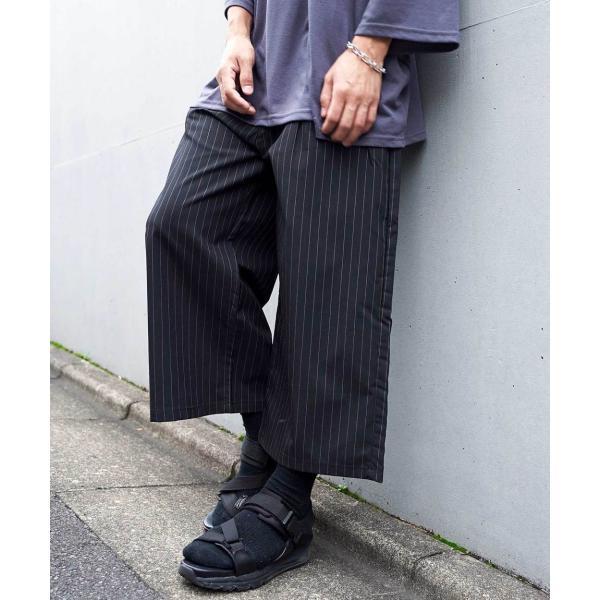 ワイドパンツ メンズ ボトムス ガウチョパンツ ズボン サスペンダー スラックス ビッグシルエット ゆったり ファッション 2019 新作 (br9011) D|zip|20