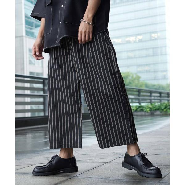ワイドパンツ メンズ ボトムス ガウチョパンツ ズボン サスペンダー スラックス ビッグシルエット ゆったり ファッション 2019 新作 (br9011) D|zip|21