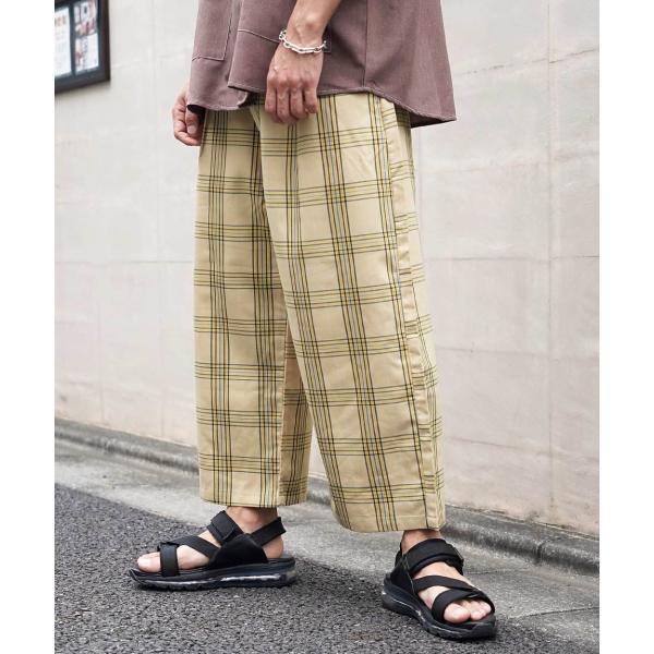ワイドパンツ メンズ ボトムス ガウチョパンツ ズボン サスペンダー スラックス ビッグシルエット ゆったり ファッション 2019 新作 (br9011) D|zip|23