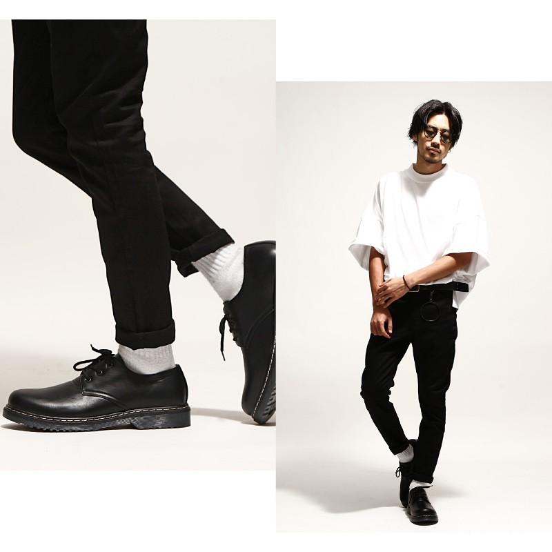 三孔綁帶式短筒馬汀鞋