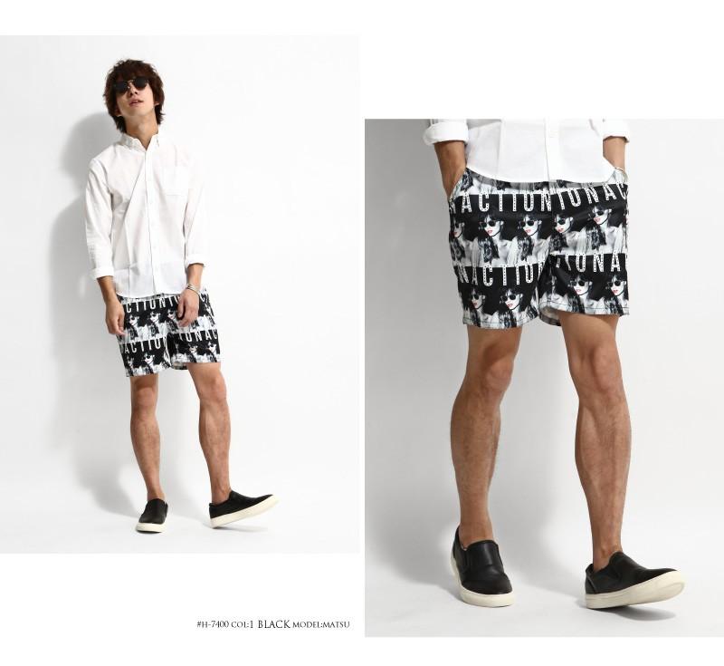 滿版印花短褲