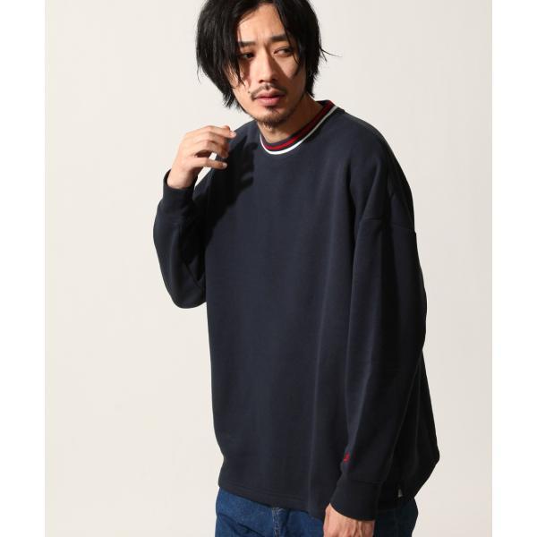 トレーナー メンズ スウェット クルーネック 裏起毛 ロゴ刺繍 リンガー 無地 KANGOL スエット ファッション (kgsa-zi1812)|zip|11