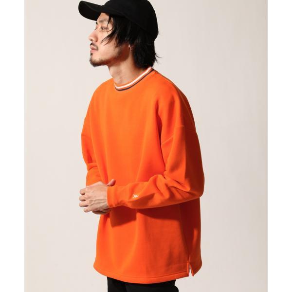 トレーナー メンズ スウェット クルーネック 裏起毛 ロゴ刺繍 リンガー 無地 KANGOL スエット ファッション (kgsa-zi1812)|zip|12