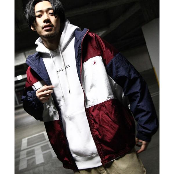 ナイロンジャケット メンズ ブルゾン ナイロン 刺繍 ワンポイント ビッグシルエット ジップアップ KANGOL カンゴール ファッション (kgsa-zi1822) D|zip|23