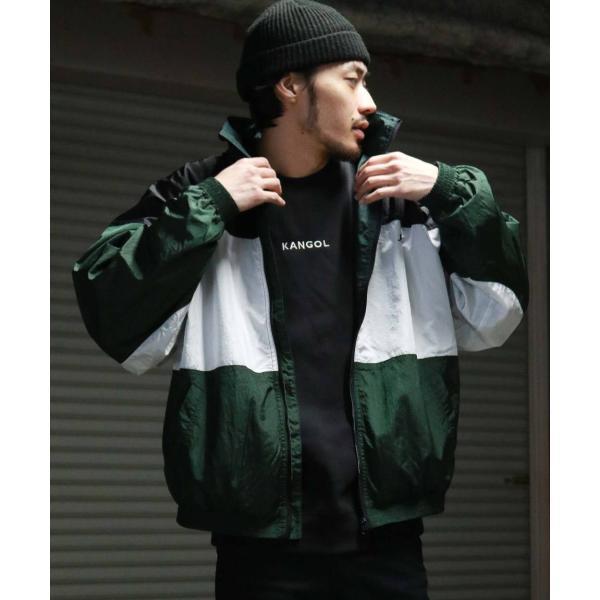 ナイロンジャケット メンズ ブルゾン ナイロン 刺繍 ワンポイント ビッグシルエット ジップアップ KANGOL カンゴール ファッション (kgsa-zi1822) D|zip|25