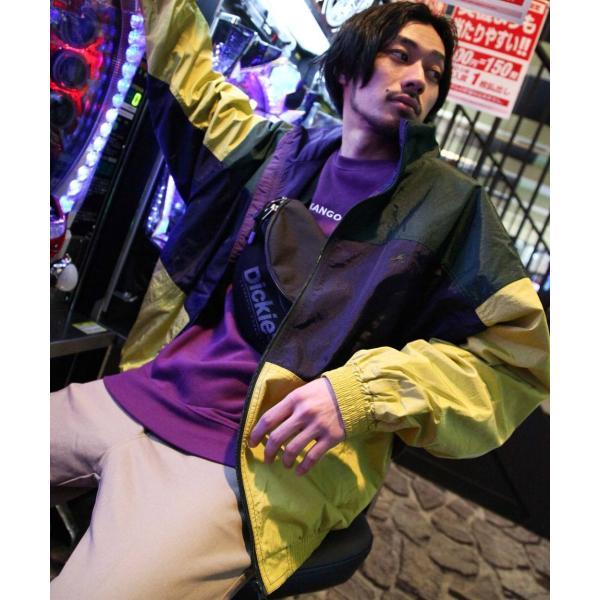 ナイロンジャケット メンズ ブルゾン ナイロン 刺繍 ワンポイント ビッグシルエット ジップアップ KANGOL カンゴール ファッション (kgsa-zi1822) D|zip|26