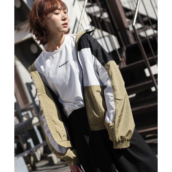 ナイロンジャケット メンズ ブルゾン ナイロン 刺繍 ワンポイント ビッグシルエット ジップアップ KANGOL カンゴール ファッション (kgsa-zi1822) D|zip|27