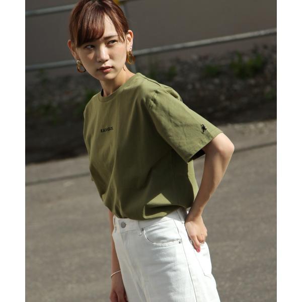 Tシャツ メンズ KANGOL ブランド カットソー シンプル 半袖 クルーネック コットン 刺繍 ロゴ 袖ワッペン カンゴール ファッション (kgsa-zi1908) D|zip|21