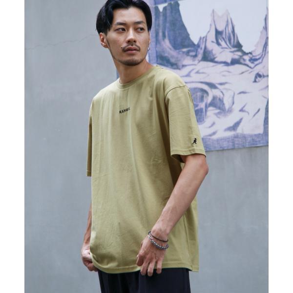 Tシャツ メンズ KANGOL ブランド カットソー シンプル 半袖 クルーネック コットン 刺繍 ロゴ 袖ワッペン カンゴール ファッション (kgsa-zi1908) D|zip|22