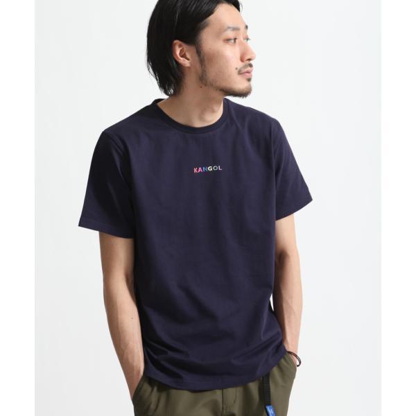 Tシャツ メンズ KANGOL ブランド カットソー シンプル 半袖 クルーネック コットン 刺繍 ロゴ 袖ワッペン カンゴール ファッション (kgsa-zi1908) D|zip|25